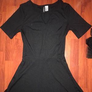 H&M divided black skater dress